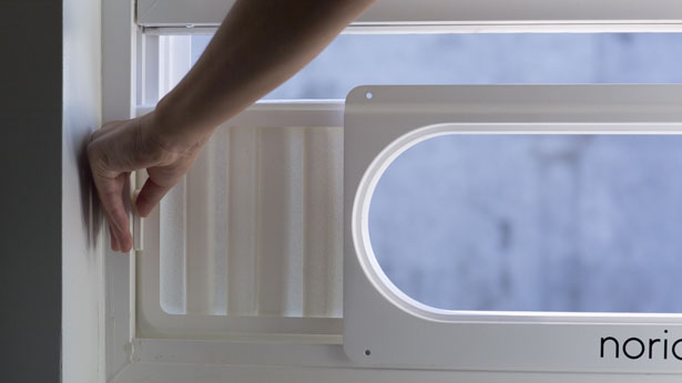 Noria Modern Window Air Conditioner Features Slim And
