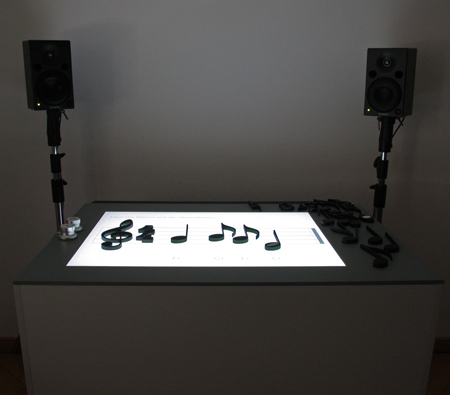 notput music table