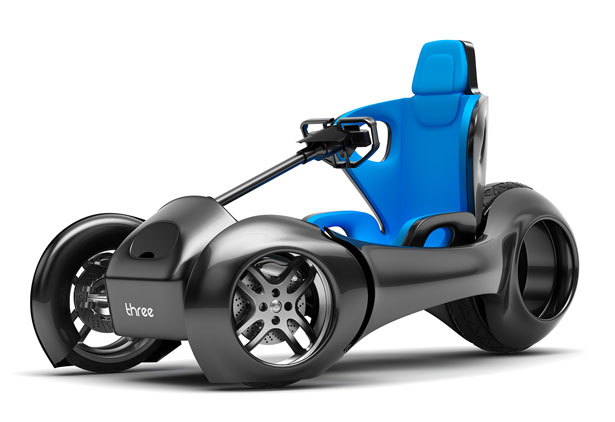 nThree Electric Vehicle by Hussain Almossawi and Marin Myftiu