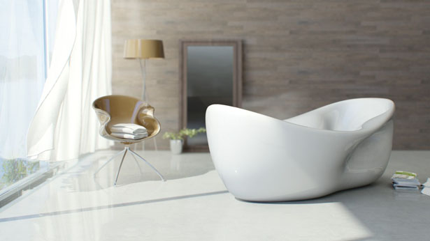 Nuvist Charme Bathtub - Fluid and Continuous Form