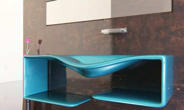Nuvist Pare washbasin - Fluid and Continuous Form