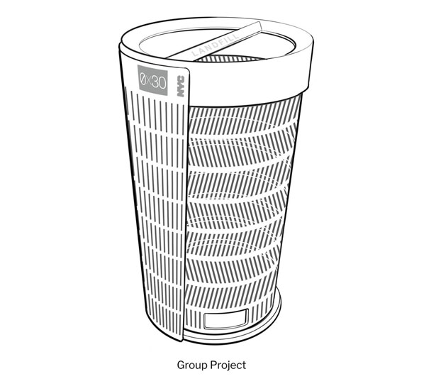 BetterBin Litter Basket Design Competition Wants to Redesign The Iconic New York City Litter Basket - NYC Streets Litter Basket by Group Project