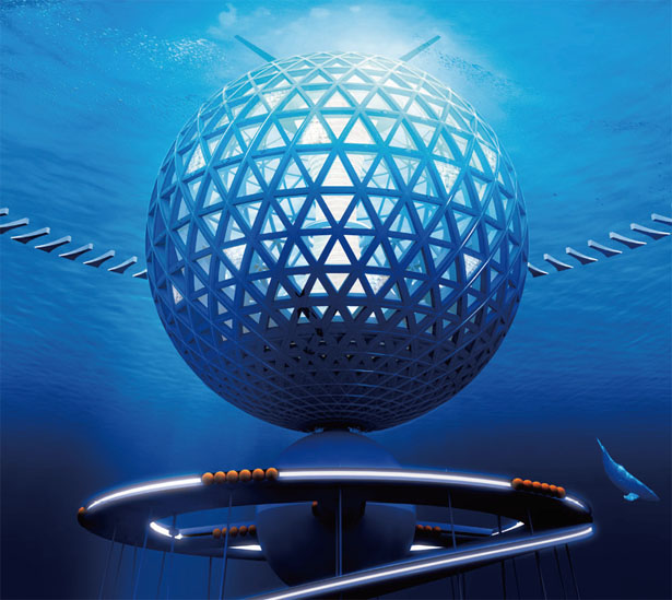 Ocean Spiral Underwater City by Shimizu Corporation