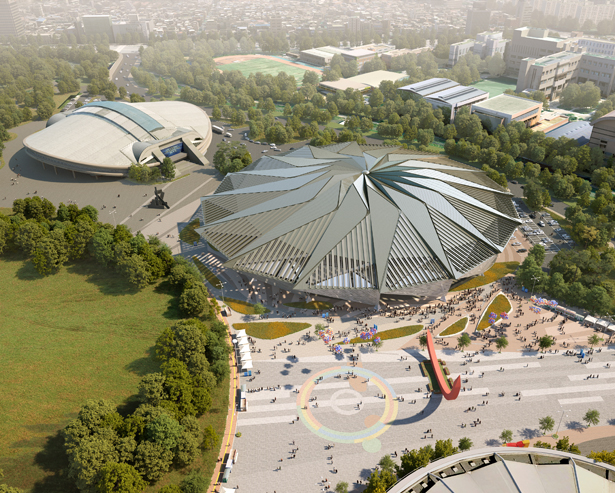 Olympic Gymnastic Arena Renovation by Haeahn dan H-Architecture