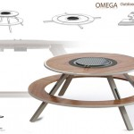 Omega Outdoor Cooking Table by Edward J. Frame