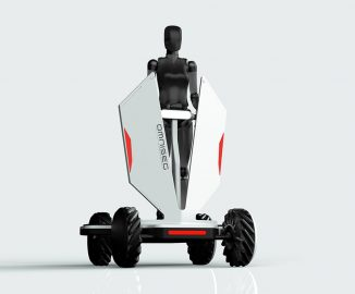 Omniseg Electric Scooter Concept with Mecanum Wheels