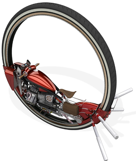 one wheel monobike