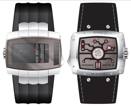 digital display opus 8 watch by harry Winston