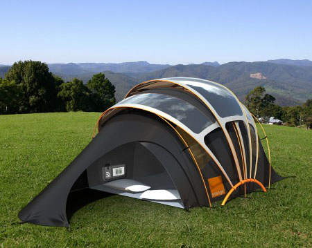 Orange Solar Tent Concept with Various Unique Features - Tuvie