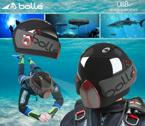 ORB Scuba Diving Helmet by Thomas Winship
