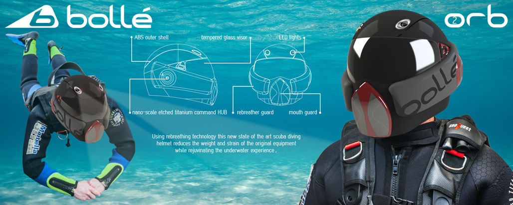 Futuristic ORB Scuba Diving Helmet Allows You to Breath Underwater Without Heavy Equipment