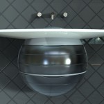 Orb Bathroom Vanity Features An Organic Form of a Raindrop