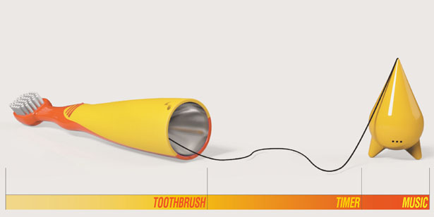 Orgel Toothbrush by Jeong Shin Yoon