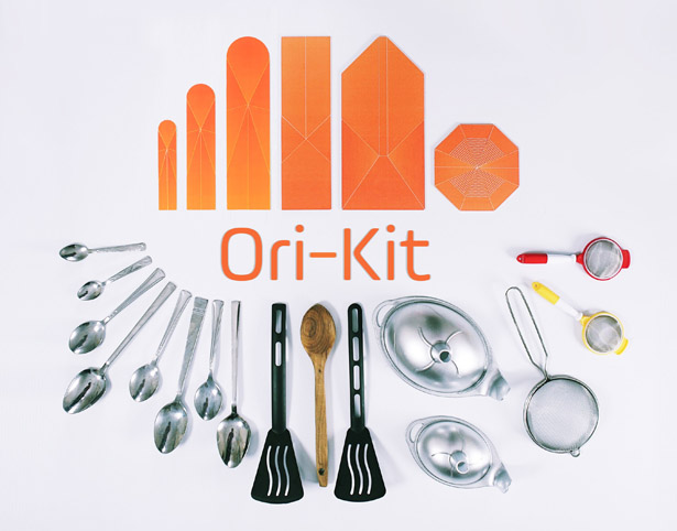Ori-Kit: Origami Kitchen Set