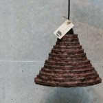 Oriental Coffee Lampshade Is Made from Recycled Materials