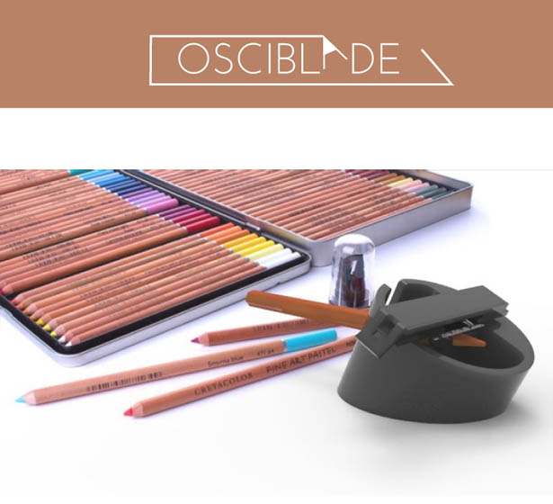 OSCIBLADE eccentric pencil sharpener by Nirmayee Rode