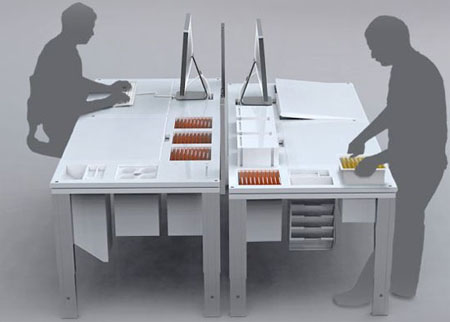 """Out of Sight Out of Mind"" (OSOM) Modular Table Concept"