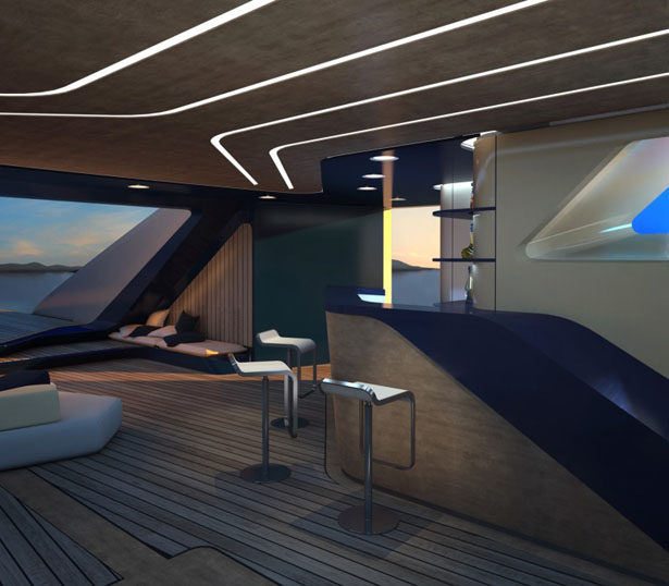Ottantacique Yacht by Pininfarina and Fincantieri