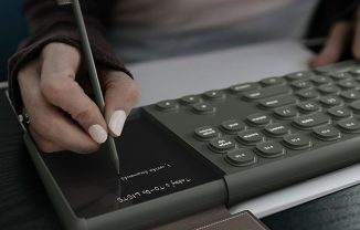 """Ouverture Keyboard with Digital Numpad/Notepad to Support """"Paperless Office"""" Environment"""