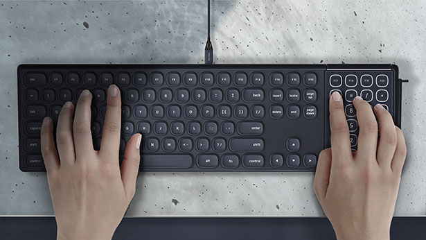 Ouverture Keyboard with Notepad by Jeong Woo Kim