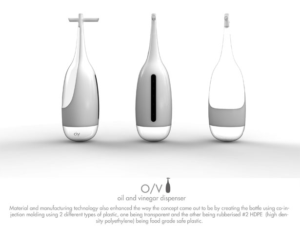 O/V : Oil & Vinegar Wobble Dispenser by Subinay Malhotra