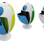 Ovetto Recycling Bin by Gianluca Soldi