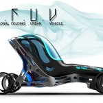 P.F.U.V : Futuristic Personal Folding Urban Vehicle Concept for The Year of 2040