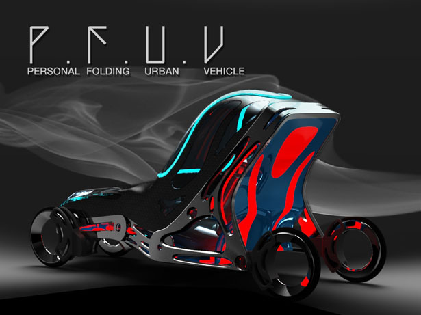 P.F.U.V - Personal Folding Urban Vehicle by Eduardo Diaz Tostado
