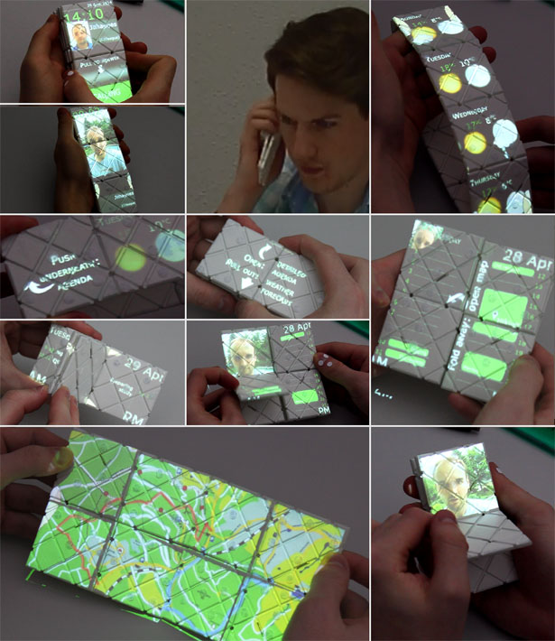 Paddle Shapeshifting Smartphone Inspired by Rubik's Puzzle