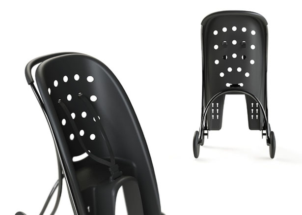 Pahoj : A Child Bike Seat That Transforms Into A Stroller by Lycke von Schantz