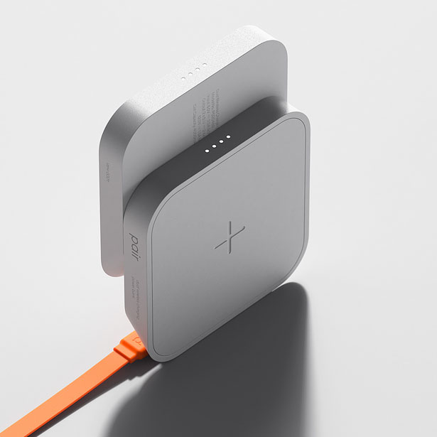 Pair Dual Wireless Charging Power Bank by Jake (Jongha) Lee and Scott Yeom for GmK Co., Ltd.