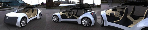 Panorama Car Is mid sized future car by Victor Romero