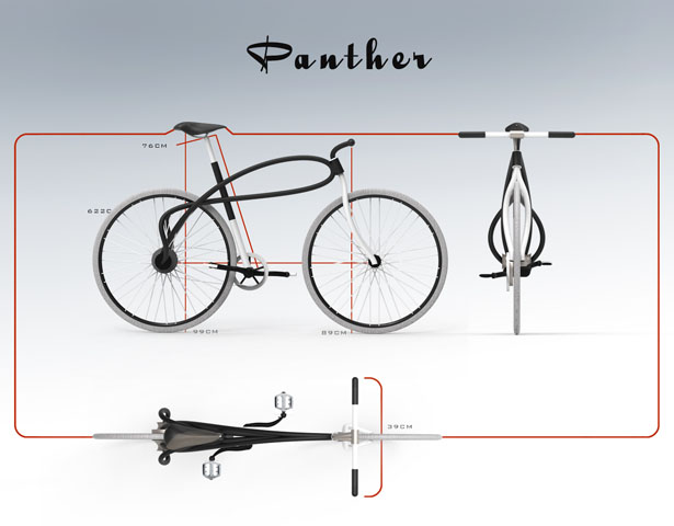 Panther 3D-Printed Bicycle in Metal by Omer Sagiv