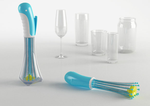Papagio Mechanical Glass and Bottle Sweeper by Hakan Gursu