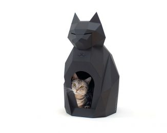 Pulpet – DIY Paper House for Cat Looks Like a Beautiful and Elegant Sculpture in Any Room
