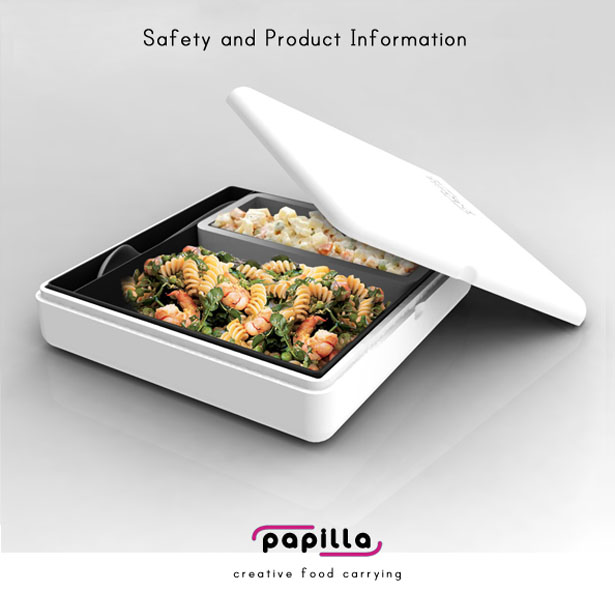 Papilla Food Container by Burcin Ceren Olcum
