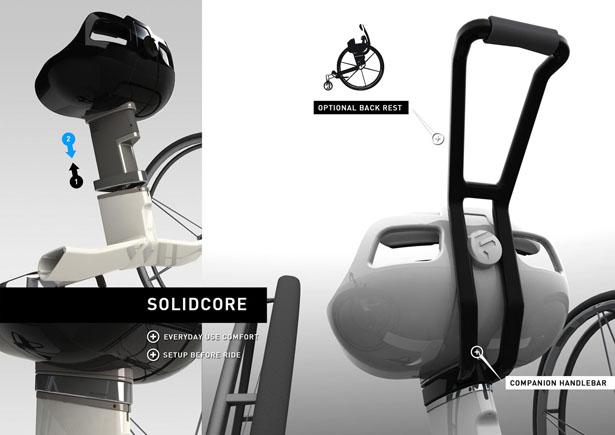 Parafree Wheelchair Sporty Core Body Training Machine for Paraplegics by Felix Lange