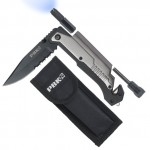 PBKay 5-in-1 Tactical Survival Pocket Knife for Unexpected Situations