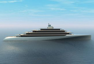 Pebble MegaYacht Design Was Inspired by Natural, Curvature Pebble Shape