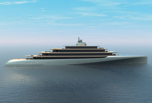 Pebble MegaYacht Inspired by Natural Pebble Shape Picked Up in an Indonesia's River by Van Geest Design