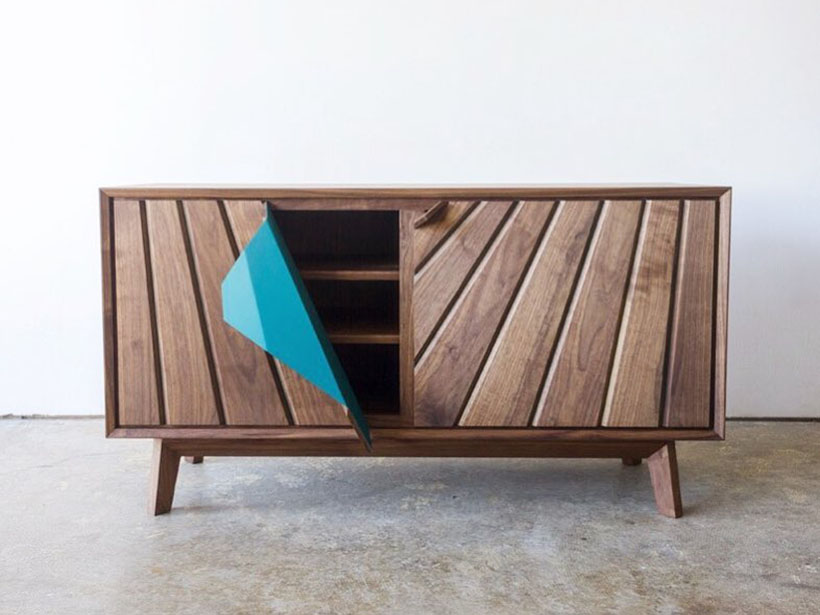 Peel Credenza Low Cabinet by Leah K.S. Amick