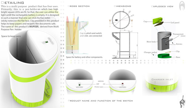 Pen Holder Design by Ajith Soman