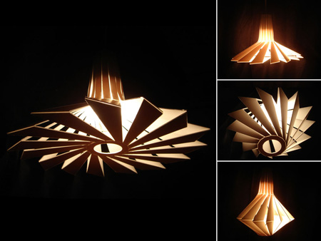 penta unique-shaped pendant lamp