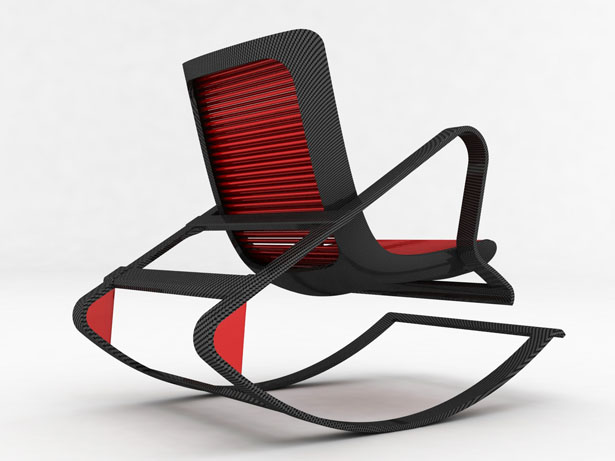 Peter Vardai Rocking Armchair