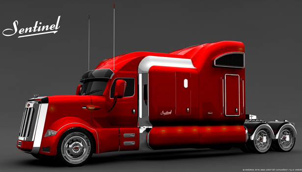 Peterbilt Sentinel Truck Design by Vasilatos Ianis