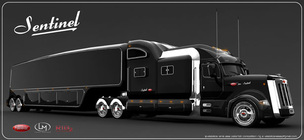 peterbilt sentinel truck concept offers classic and elegant