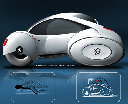 Peugeot+3+wheel+car | Modern Industrial Design and Future ...