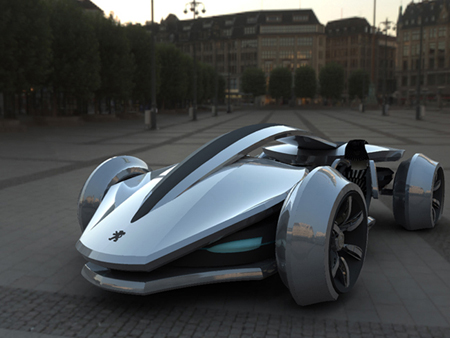 Futuristic Epine Concept Car was Inspired by Racing Vehicles