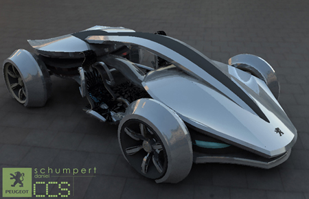 Futuristic Epine Concept Car Was Inspired By Racing