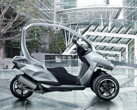 peugeot HYmotion3 scooter concept